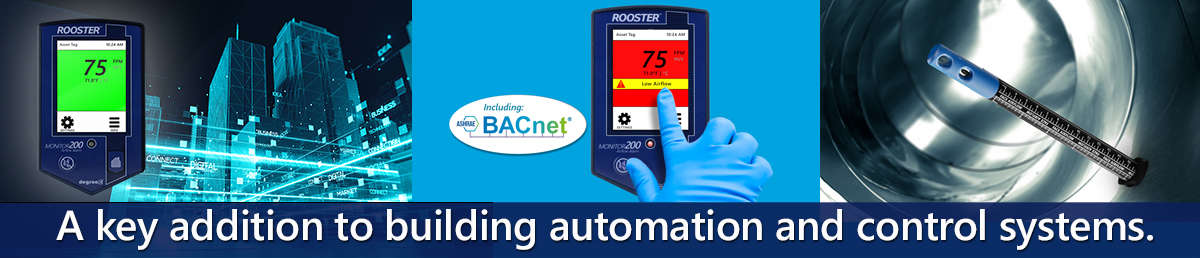 BACnet controlled HVAC monitor
