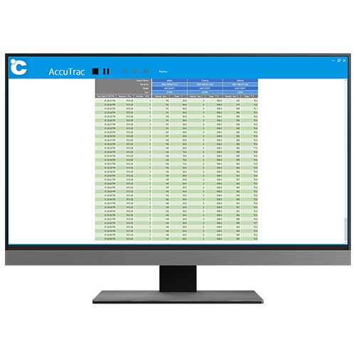 Fume hood safety monitor software for data looging, analysis, and reporting.