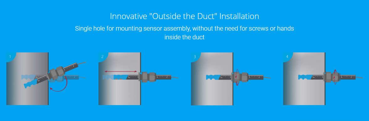 bidirectional airflow sensor installation