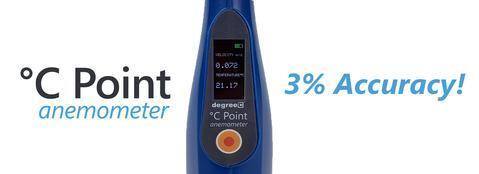 c point anemometer display