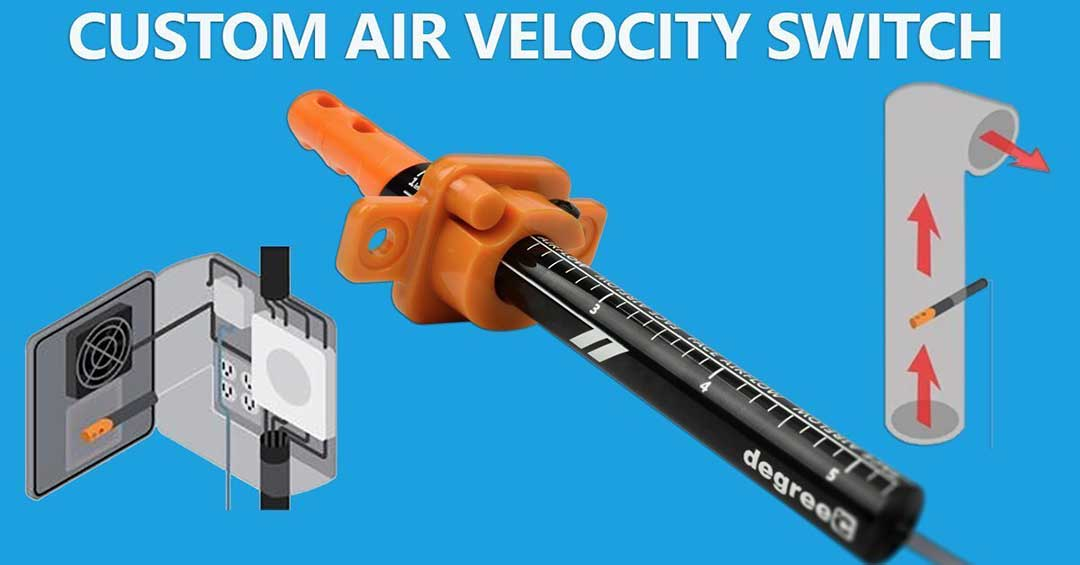 custom air velocity switches from degree controls