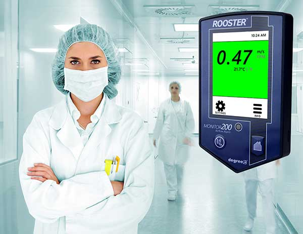 healthcare professional and rooster monitor200