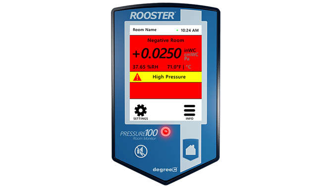 Monitor indoor air for safe airflow levels using Rooster Monitor200 that communicates with BACnet to your building management system (BMS).