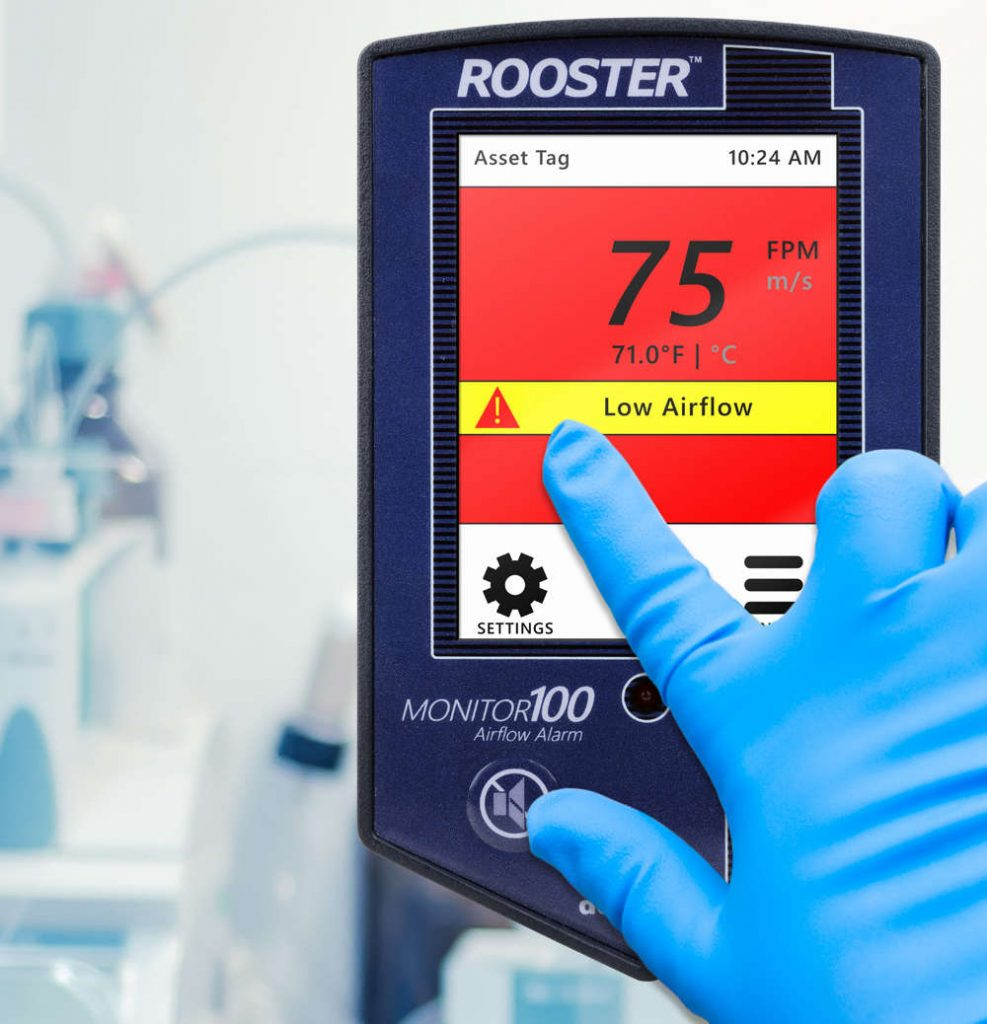 Rooster monitors and alarms give you 24/7 status and control of laminar air flow in your laminar air flow equipment.