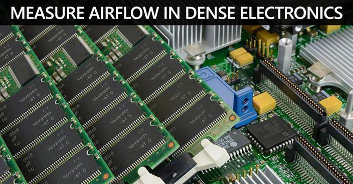 measuring airflow in dense electronics