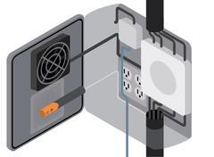 s-series switch in use in electrical box