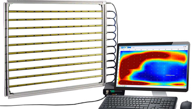 study planar airflow profiles in rooms, ducts, HEPA filtration units, and airflow dampers using a Grid Array Sensor System.