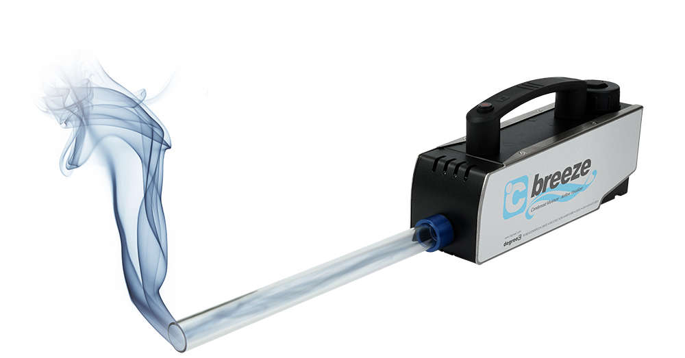 C Breeze smoke wand or fog generator used for air flow visualization tests.