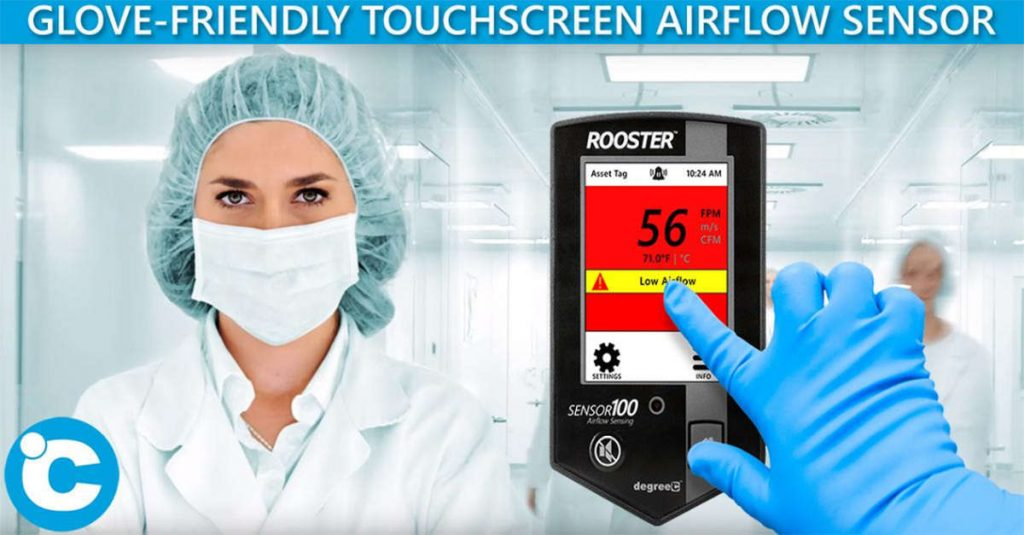 USP 800 compliant air flow management with a glove-friendly touch-screen monitor.