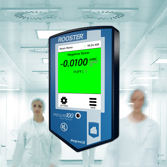 Used for monitoring ICUs and cleanrooms for air velocity and pressure.
