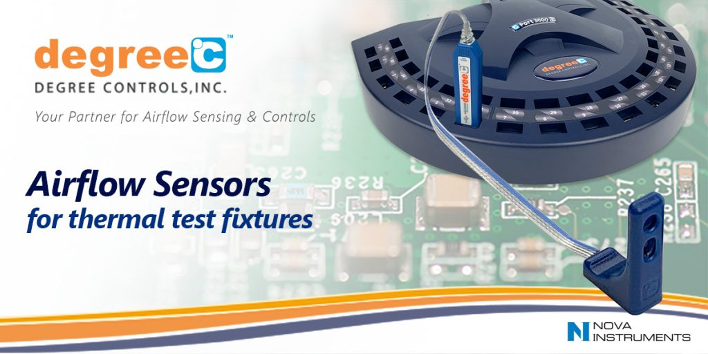Airflow sensors for test fixtures and the open compute project