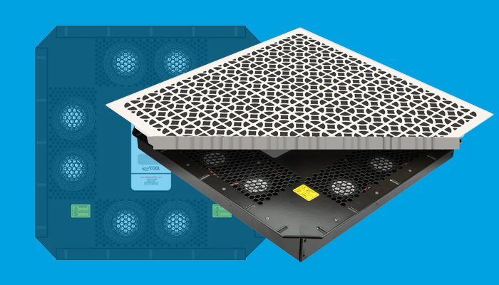 HT-510 Underfloor Air Mover may be purchased with or without attached perforated tile