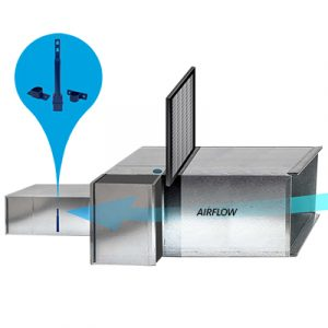 S100 air velocity switch monitors airflow in ducts