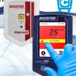 Board mount airflow sensors, pcb mount air velocity & temperature sensor