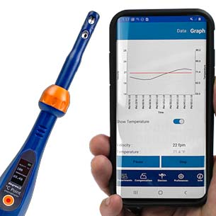 °C Point Anemometer Articulating Probe
